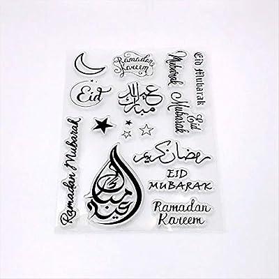 Cake decoration Eid Mubarak silicone mold Cutter stamp embosser holiday Fondant