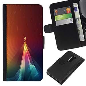All Phone Most Case / Oferta Especial Cáscara Funda de cuero Monedero Cubierta de proteccion Caso / Wallet Case for LG G2 D800 // Geometry Rocket