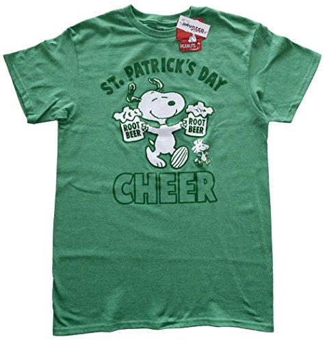 Men's St. Patrick's Day Cheer Snoopy T-shirt. S to 3XL