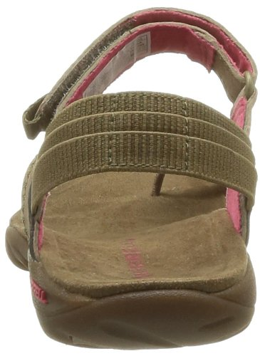 Merrell MIMOSA CLOVE J57512 - Chanclas de cuero para mujer Beige (Beige (KANGAROO))
