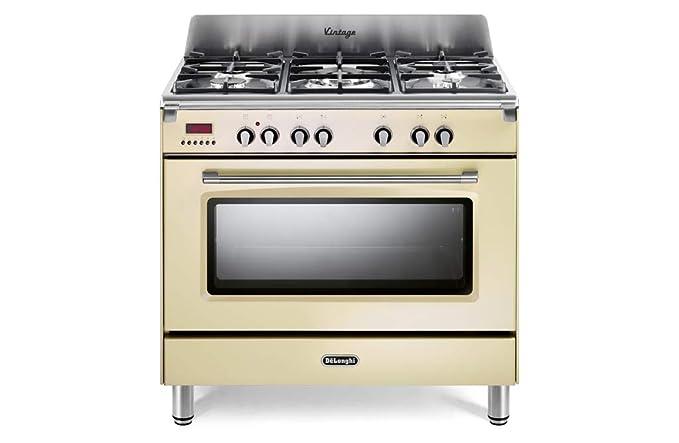 cocina A Gas 5 fuegos Horno eléctrico Ventilado 90 x 60 cm Línea ...