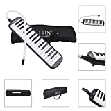 WINDMAX Black 32 Key Piano Style Melodica With Box Organ Accordion Mouth Piece Blow Key Board