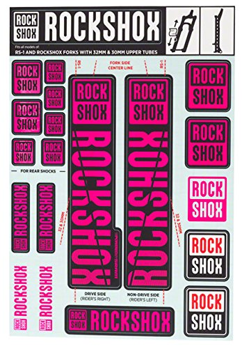 RockShox Decal Kit - 30/32mm Magenta, 30/32mm, SID, Reba, Revelation