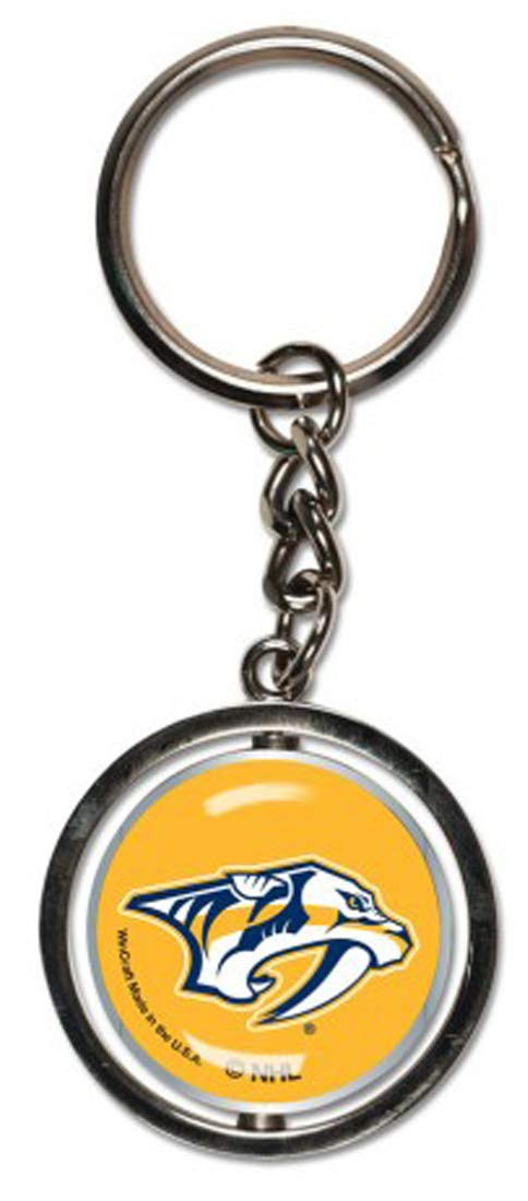 Bundle 2 Items: NHL Nashville Predators 1 Key Ring Spinner and 1 Stwrap Bag Id by WinCraft (Image #2)