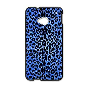 Fashionable Animal Print Protective Shell Leopard Custom Case for HTC One M7
