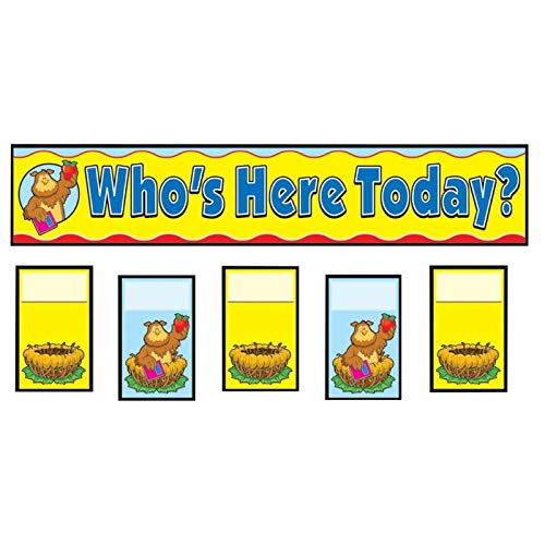 Carson Dellosa CD-158006BN Attendance Replacement Card Pocket Charts - Pack of 6