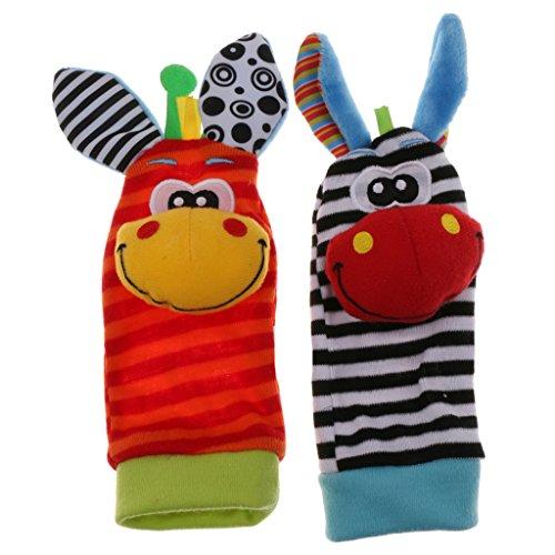 1 Paire Bébé Bébé Chaussettes Pieds Doux Hochets De Développement Jouet Girafe