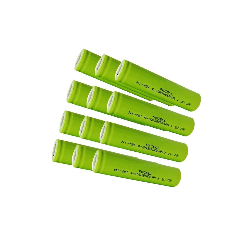 Ni-MH Rechargeable Batteries 3800mAh 1.2v 4/3A 12pc by PKCELL