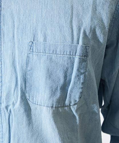 デニムシャツ 長袖 長袖シャツ 綿 淡色 デニム シャツ メンズ