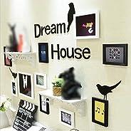 GJNVBDZSF Molduras para fotos grande conjunto de parede grande preto e branco colagem familiar 10 suportes par