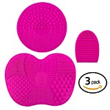 3 Pack | Makeup Brush Cleaning Mat (Pink)