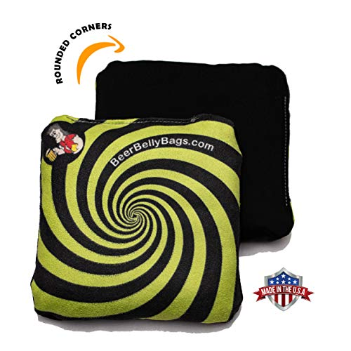 - Beer Belly Bags Cornhole - Performance Series 4/pcs ACL Approved Resin Filled - Double Sided - Sticky/Slide Sides (Lime Green)