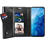 SUPTMAX Leather Wallet Case for Samsung Galaxy S10E [PU Leather Plus TPU Base] Galaxy S10E Flip Case [5 Slots] Samsung Galaxy S10e Wallet Case with Magnetic Closure (Black)