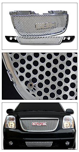 Topline Autopart Chrome Round Hole Front Upper Hood Grill Lower Bumper Grille ABS For 07-14 GMC Yukon//XL//Denali