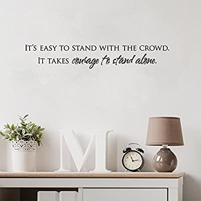 intiu Wall Decal Sticker Art Mural Home Decor Quote Courage to Stand Alone