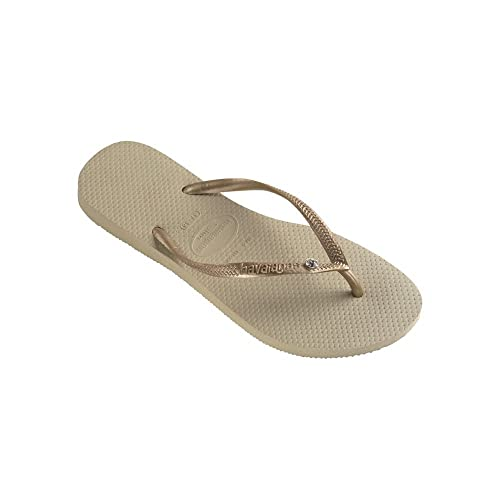 havaianas Slim Flips women sand grey/light golden EU 37/38 wMziiQsd