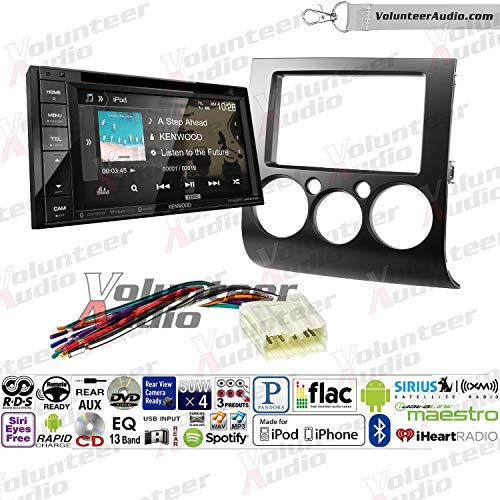 Volunteer Audio Kenwood DDX276BT Double Din Radio Install Kit with Bluetooth, Sirius XM Ready, Touchscreen Fits 2004-2012 Mitsubishi Galant