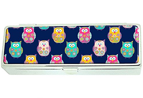 Bright color owls Custom Lipstick Box Frame Rectangle Velvet Cosmetic Lipstick Case Makeup Box Jewelry Box (Lipstick Custom Color)