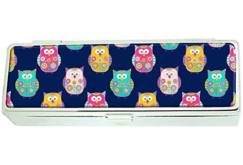 Bright color owls Custom Lipstick Box Frame Rectangle Velvet Cosmetic Lipstick Case Makeup Box Jewelry Box
