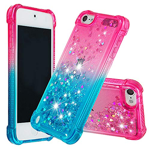 iPod Touch 6 Case,iPod Touch 5 Liquid Case,iPod Touch 6 Luxury Flowing Liquid Floating Bling Glitter Sparkle TPU Bumper Shockproof Girls Women Case for iPod Touch 5 / Touch 6 -