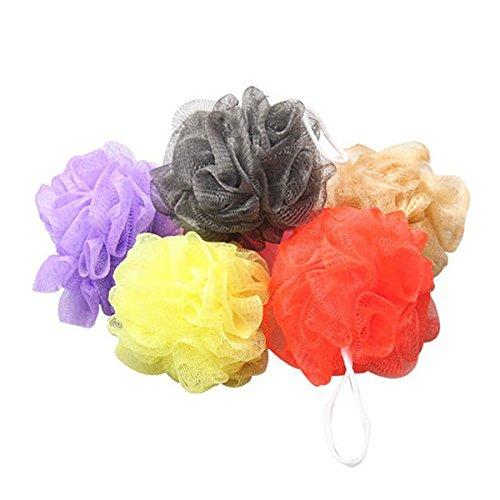 UEETEK 10pcs Bad Dusche Körper Peeling Blätterteig Schwamm Mesh Net Bad Kugeln Set (zufällige Farbe)