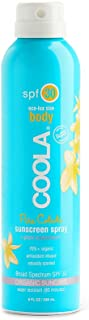product image for COOLA Organic Sunscreen & Sunblock Spray, Skin Care for Daily Protection, Broad Spectrum SPF 30, Reef Safe, Piña Colada