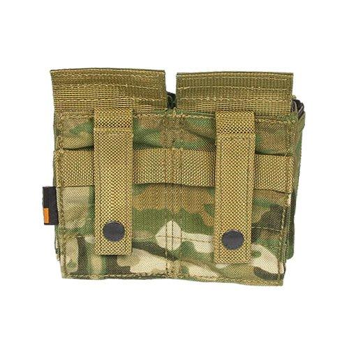 Flyye Doppel M4 / M16 + Quad Pistole Magazintasche MOLLE MultiCam