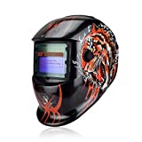 Tiger Solar Auto Darkening Mig Mma Welding Mask Welding Helmet Weld/Grind /Uv/Ir Preservation For Welding Machine