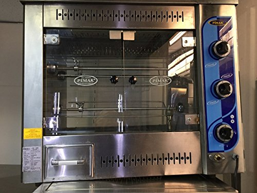 Commercial Kitchen Equipment Countertop Chicken Rotisserie Roaster Grill Machine 9 pcs Chicken Capacity Propane or Natural Gas (NATURAL GAS MODEL)