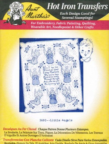 Angel Iron (Little Angels Aunt Martha's Hot Iron Embroidery Transfer)