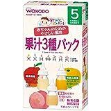 和光堂 飲みたいぶんだけ 果汁3種パック(5ヶ月頃から) 6包【3個セット】