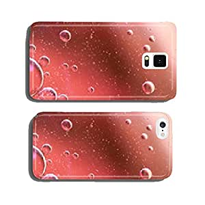 Water, air and oil mixed for a bubbly effect cell phone cover case Samsung S6