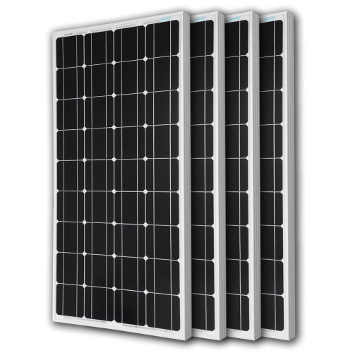 Renogy 4 Pieces 100W Monocrystalline Photovoltaic PV Solar Panel Module, 12V Battery Charging -