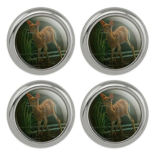 White-Tailed Fawn Alert Baby Deer Metal Craft Sewing Novelty Buttons - Set of ()
