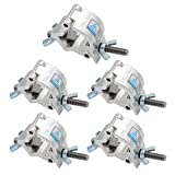 Truss Hook Clamp JFDWOPHT 5PCS Heavy Duty 32-35mm Stage Light Hook Clamp/Truss clamps/Moving Head Light Par Light Spotlight Truss Kit/ Aluminum Alloy Finish