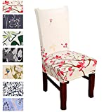 Argstar 4 Pack Chair Slipcovers for Dining Room Spandex Protector Covers for Kitchen Pink Patterned X_01