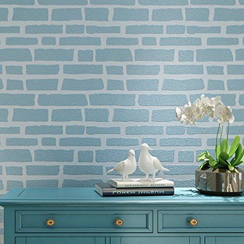 3d-retro-uneven-brick-pattern-brick-texture-wallpaper-fresh-mediterranean-10m-blue