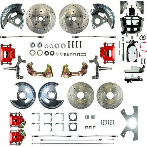 (Right Stuff AFXDC41DZX 4 Wheel Disc Brake Conversion Kit 1964-1972 GM A-Body Pow)