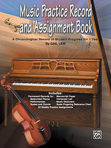 Progress Music - Music Practice Record and Assignment Book: A Chronological Record of Student Progress for 1 Year