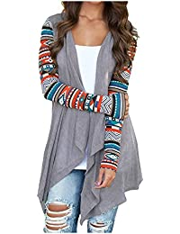 Womens Cardigans Solid High Low Long Sleeve Boho Open...