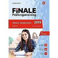 FiNALE Prüfungstraining Mittlerer Schulabschluss Nordrhein-Westfalen: Deutsch 2019 Arbeitsbuch mit Lösungsheft