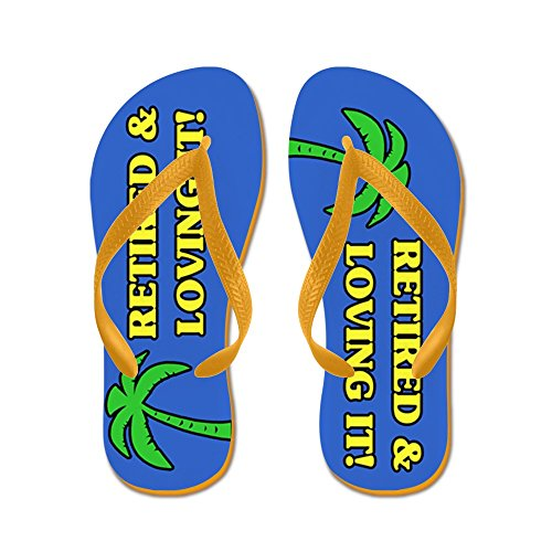 CafePress Retired & Loving It! - Flip Flops, Funny Thong Sandals, Beach Sandals Orange