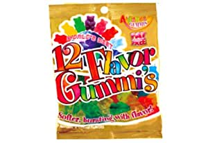 Albanese 12 Flavor Assorted Gummi Bears, 5-Ounce Bags (Pack of 12)