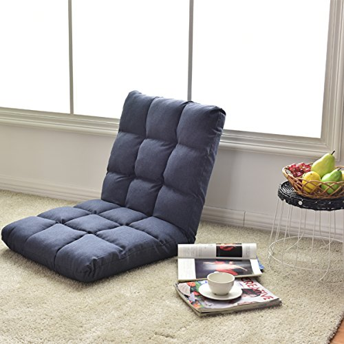 51lh4uocmIL - Giantex-Adjustable-Floor-Gaming-Sofa-Chair-14-Position-Cushioned-Folding-Lazy-Recliner