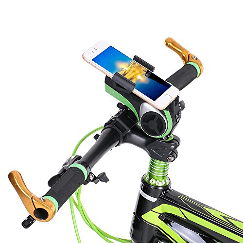 1Pc Bicycle Ring Bell LED Light Multifunctional Bike Bluetooth Audio Phone Holder Bracket MP3 Player Speaker 4400mAh Power Bank by New Brand (Image #1)