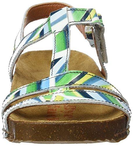 I Fantasy donna alla con multicolore Breathe strisce caviglia 0889 Sandali cinturino Art da n5q0PEZxw