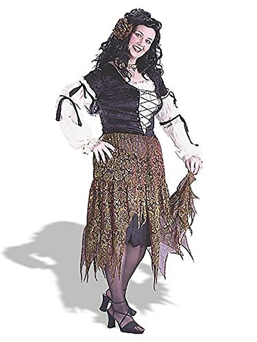 Size 24w Halloween Costumes (Gypsy Rose Costume - Plus Size 1X/2X - Dress Size 16-22)