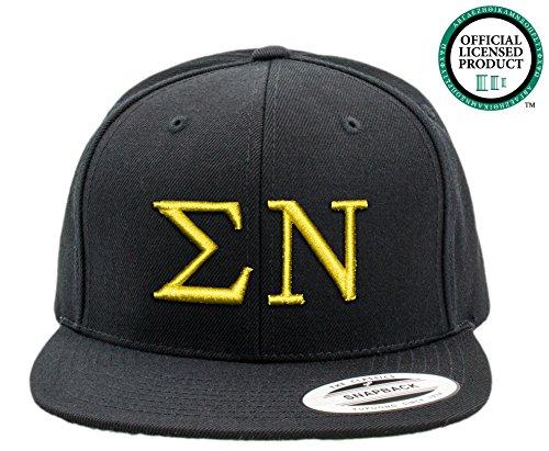 SIGMA NU | Black Flat Brim Snapback Hat - Various Thread Options