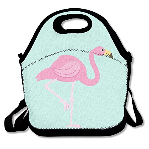 - Pink Flamingo Clip Art Insulated Lunch Bag - Neoprene Lunch Bag - Large Reusable Lunch Tote Bags For Women, Teens, Girls, Kids, Baby, Adults Portable Carry Color1