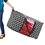 Patio Cushion Storage Bag Zippered Rolling Tote with Handles, Medium